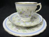 Lovely Tuscan china blue daisies tea trio